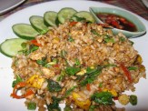 Spicy Fried Rice with Holy Basil