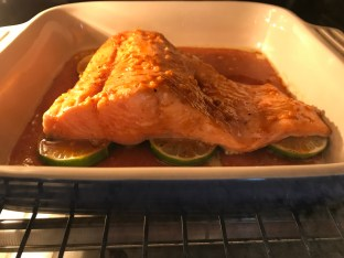 The Well-Intended's Sriracha Lime Salmon Baking