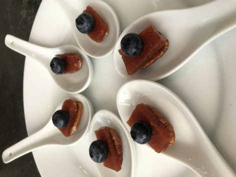 The Well-Intended, Pecan, Quince Paste, Blueberry