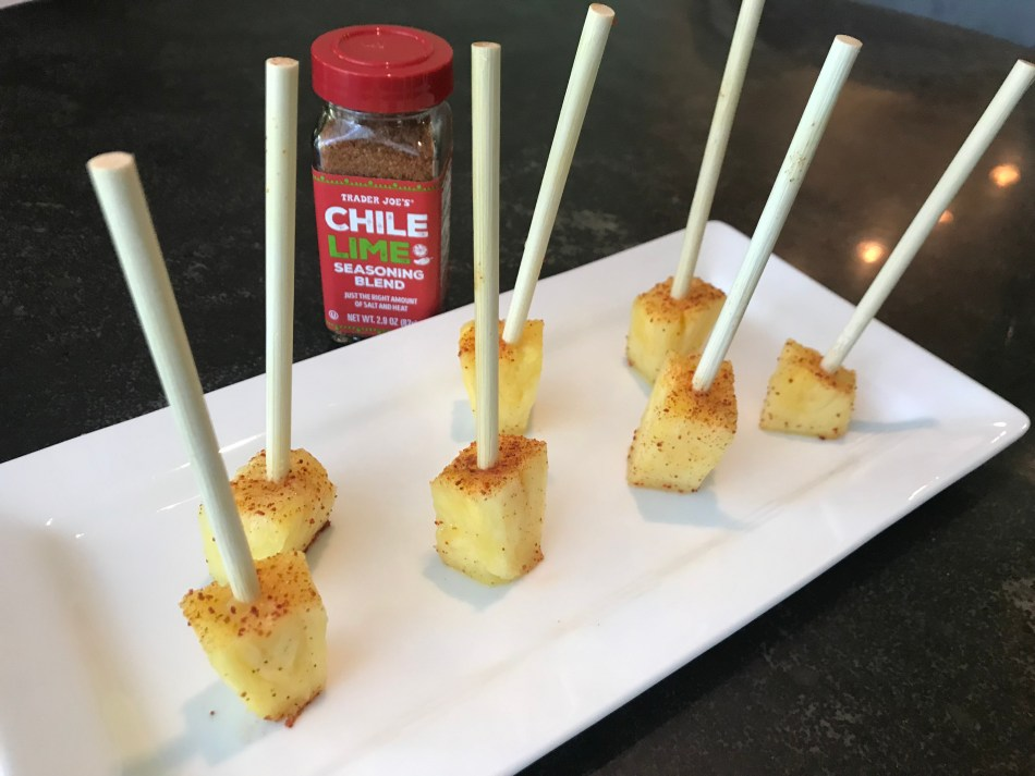 The Well-Intended Chili Lime Pineapple Skewers