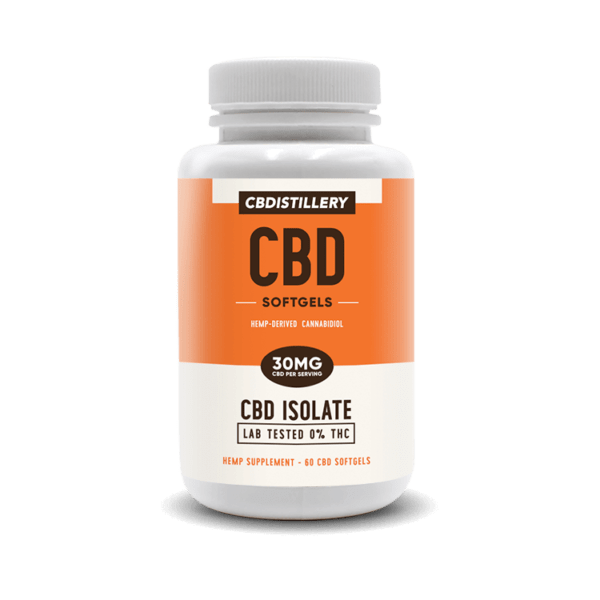 cbd-kafe,CBD Isolate Softgels – 30mg CBD – 60 Count,CBDistillery,CBD Isolate