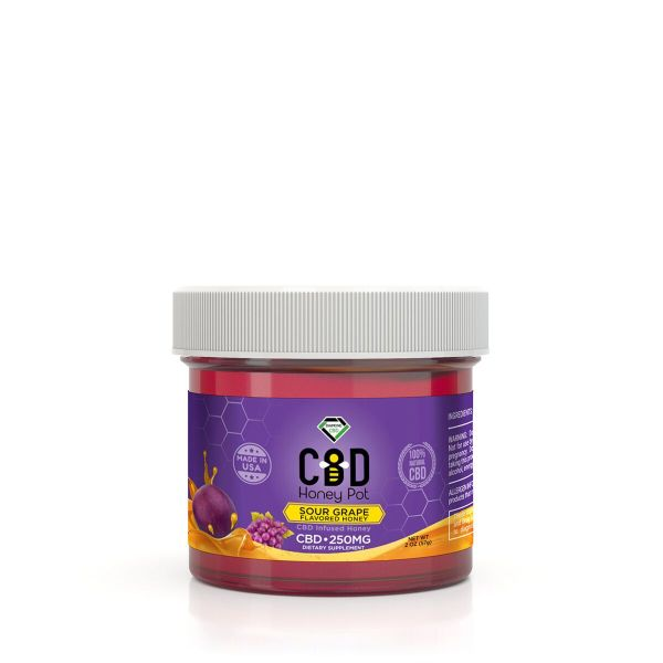 cbd-kafe,Diamond CBD Honey Pot - Sour Grape 250 mg,Diamond CBD,Full Spectrum