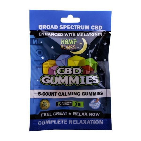 cbd-kafe,Hemp Bombs CBD Sleep Gummies 5-Count,Hemp Bombs,Broad Spectrum