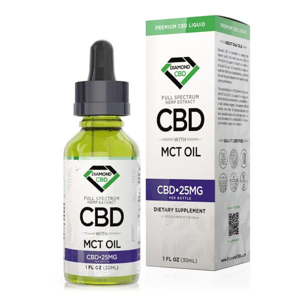 cbd-kafe,Diamond CBD Full Spectrum MCT Oil - 25mg (30ml),Diamond CBD,Full Spectrum