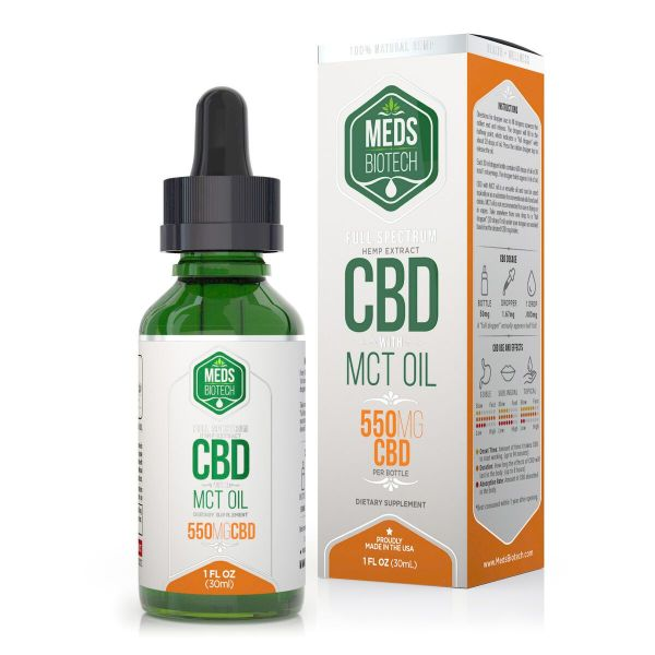 cbd-kafe,Meds Biotech Full Spectrum MCT Oil - 550mg (30ml),Meds Biotech,Full Spectrum