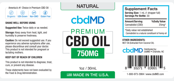 cbd-kafe,CBD Oil Tinctures 750mg,CBDMD,Full Spectrum