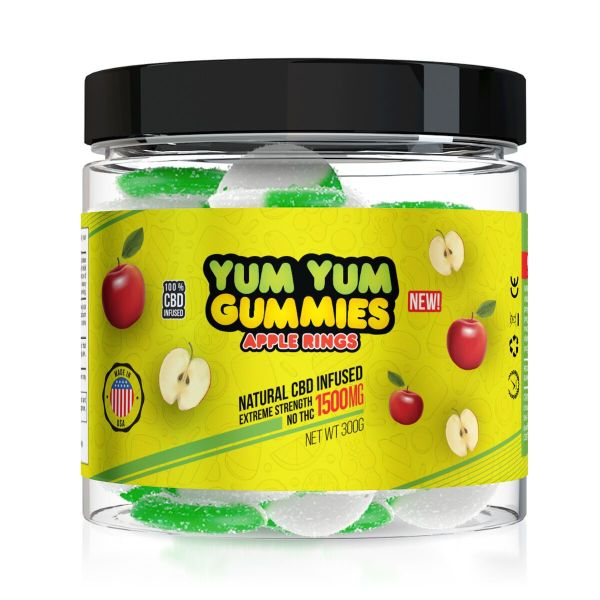 Yum Yum Gummies 1500mg - CBD Infused Apple Rings