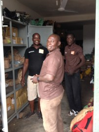 This is Morro, Sammy, and Dauda--they're three of our top mechanics.