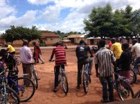 The next day Jason and I set out for Bonkwae, where I got to see my first Village Bicycle Project Workshop! I'm still very impressed with the amount of work that goes into teaching people about bikes!