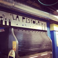 La Pistola--the best bread in Spain. Of course it was closed when I got there.