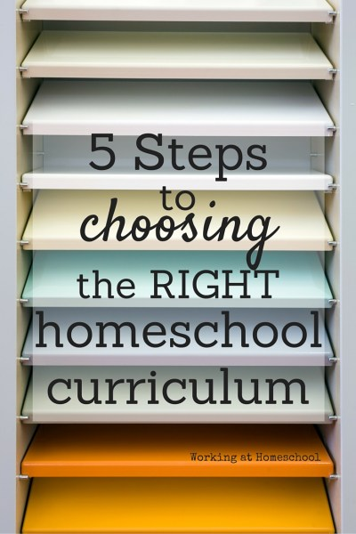 Five Steps to Choosing the Curriculum that's Right for You