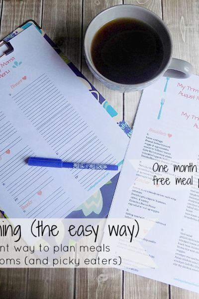 Meal Planning Made Easy – works for Trim Healthy Mama
