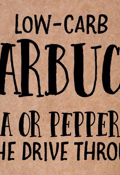 Low-Carb Starbucks Hack