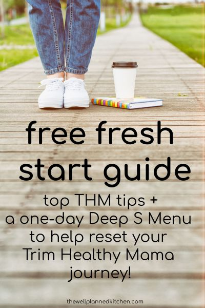 Free Fresh Start Guide for Trim Healthy Mama