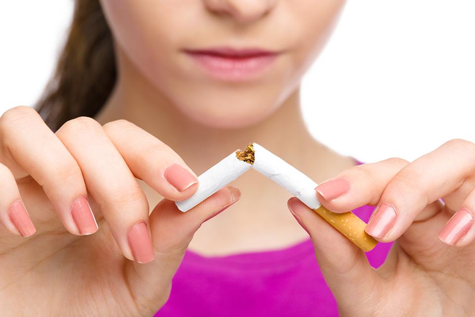 dejar de fumar o ingesta de tabaco