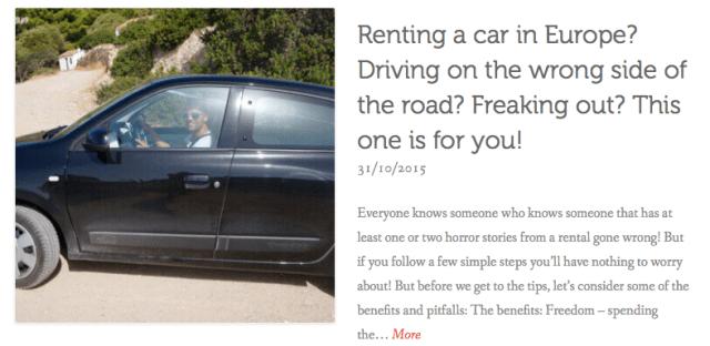 thewelltravelledman renting a car in europe