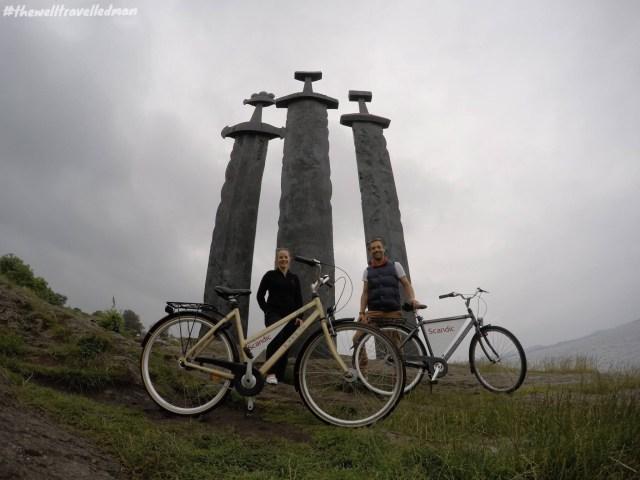 Sverd i Fjell (The three swords monument) in Stavanger