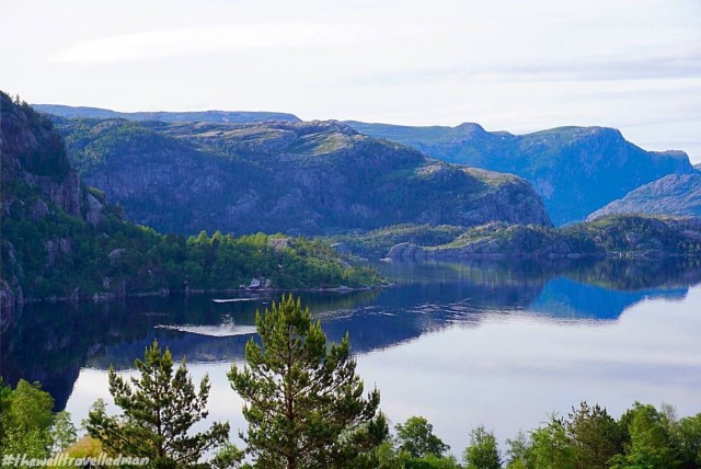 Beautiful lakes on the way down from Preikestolen