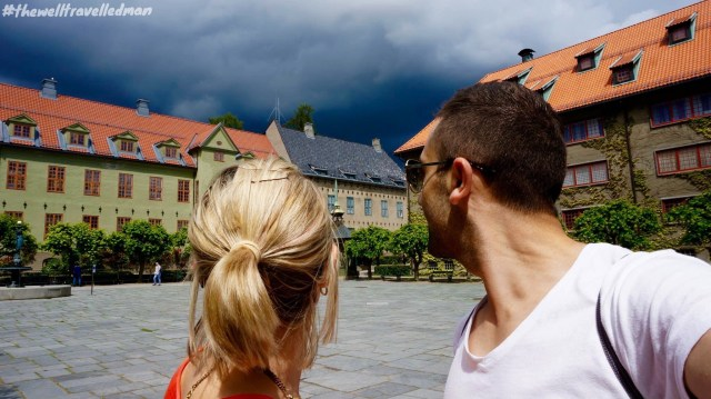 Watching the storm brew at the Folk Museum in Oslo