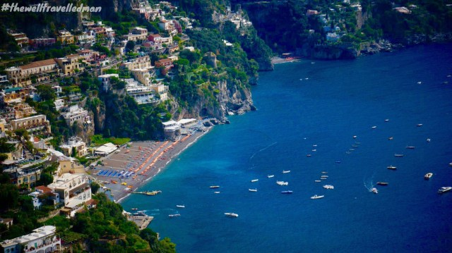 The view overlooking Positano