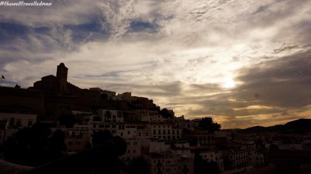 Ibiza old town - sunset