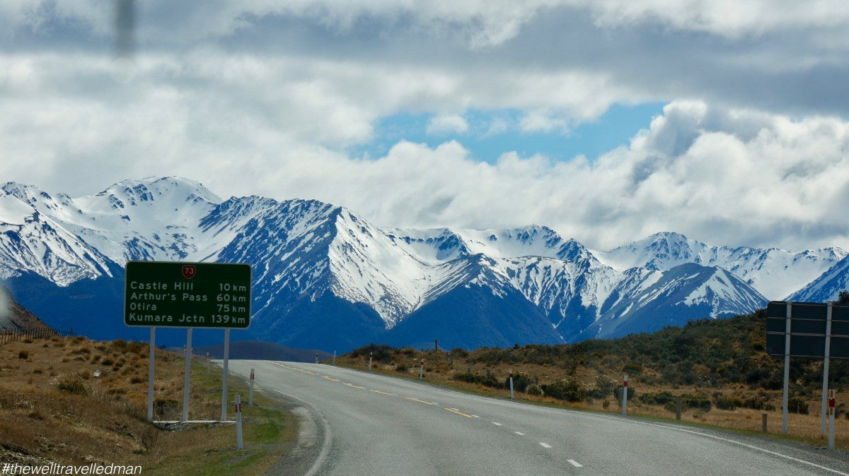 Driving from Christchurch to Franz Josef, NZ