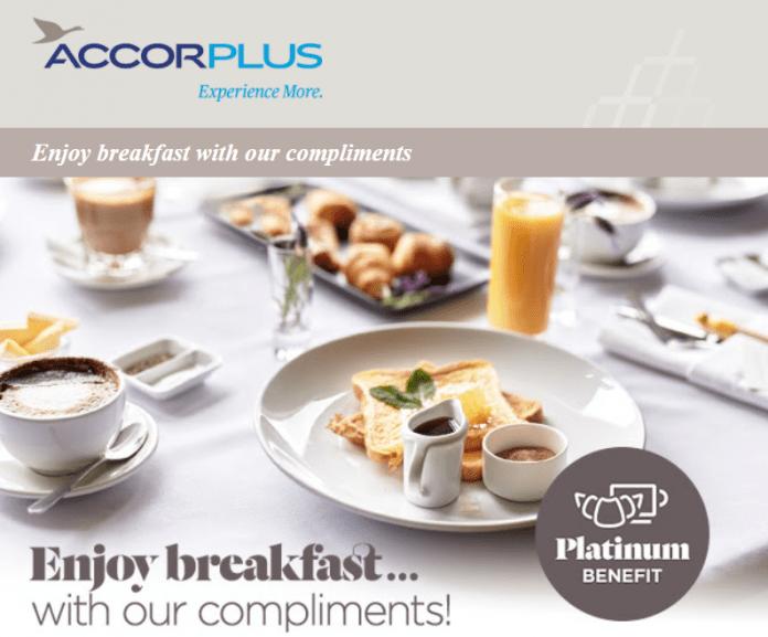 Le Club AccorHotels Platinum Breakfast