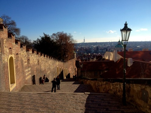 Winding street down from Prague Castle