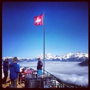 The view over Switzerland