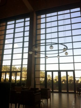 Inside the library's serenity room. Aka Mansueto in Cairo.