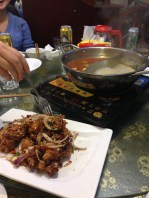 Northern Chinese restaurant with fragrant chicken, bones intact! Also, hotpot.