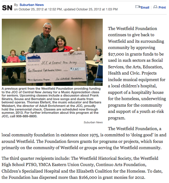 In the news – The Westfield Foundation