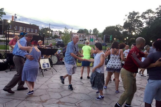 Swingadelic entertains the crowds on July 26.