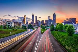 Downtown Atlanta Georgia Skyline