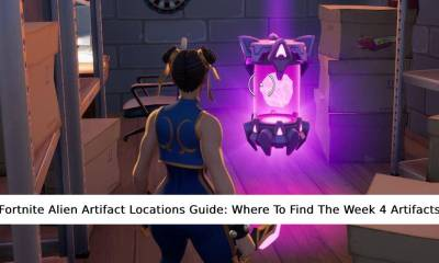 Fortnite Alien Artifact Locations Guide- Where To Find The Week 4 Artifacts