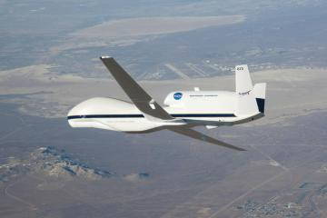 A drone, navy planes, and helicopters will track NASA's Orion flight