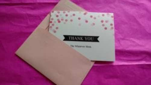 Basic Invite Thank You Card