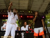 Big Daddy Kane invites the Legendary Easy A. D. of the Cold Crush Brothers to the stage to perform Live Performance at the Rock Steady Crew 38th Annual Celebration held on Sunday, July 26, 2015 at Central Park in New York City