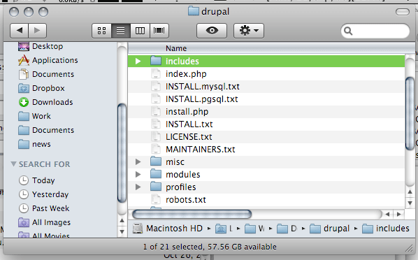 finder folders and files mixed