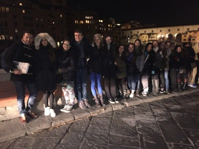 At Florence along the Ponte Vecchio