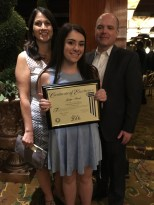 Jaclyn withJaclyn with her parents her parents