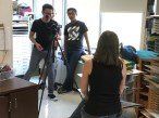 Ms. Calvagno being interviewed by the Documentarians