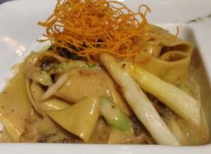 Asparagus & Morels Tagliatelle: creamy, dreamy and decadent!