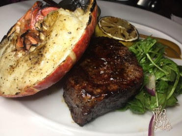 Filet Mignon with a 1/2 lobster tail supplement