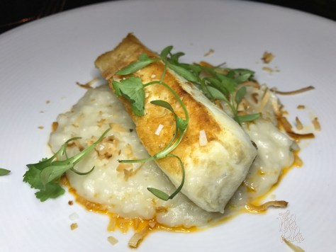 Alaskan Halibut: lemongrass & coconut risotto, Calabrian chile