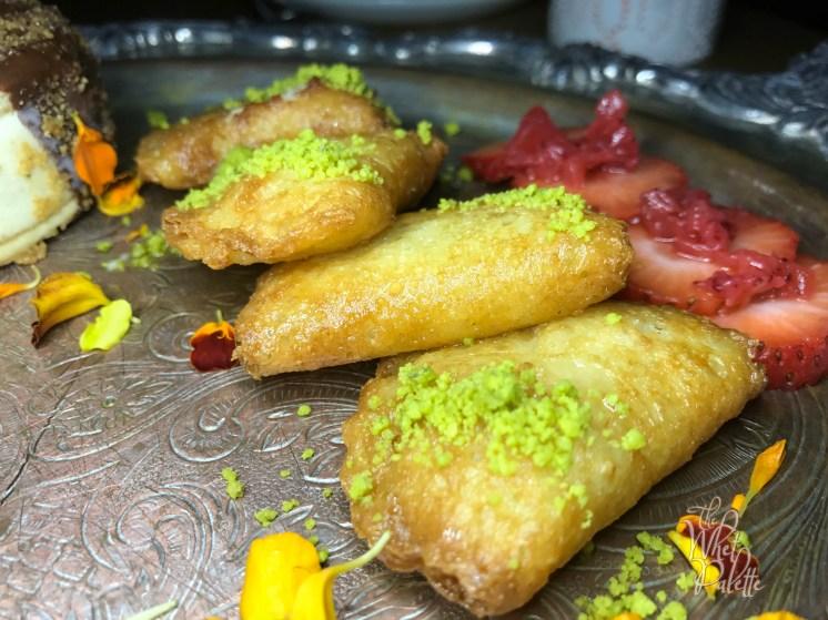 Strawberry Cheesecake Qatayef