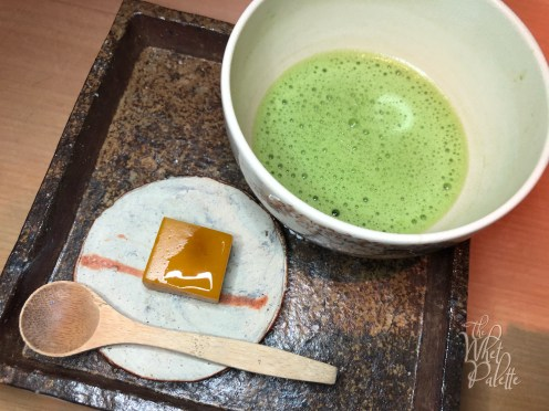 Hand-picked organic matcha and local canistel yokan