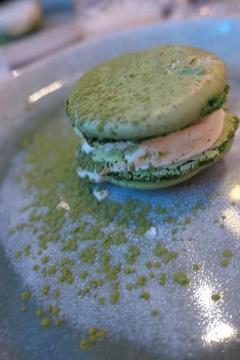 Matcha Macaron and White Chocolate Ice Cream Sandwich