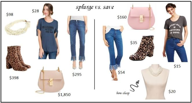 splurge vs save with chloe