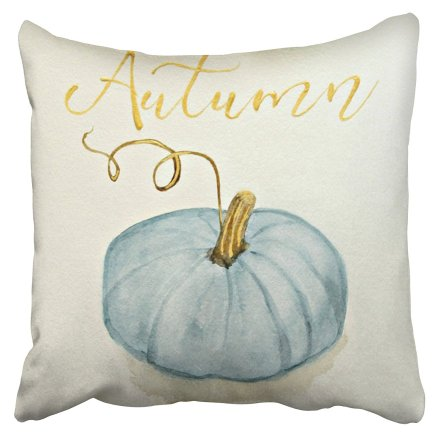 blue pumpkin pillow